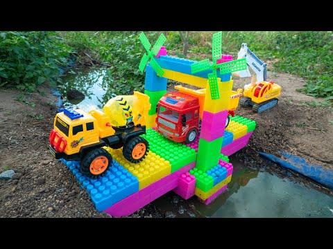 Construction Trucks #shape for Kids - Water Tank Trucks for Chidlren