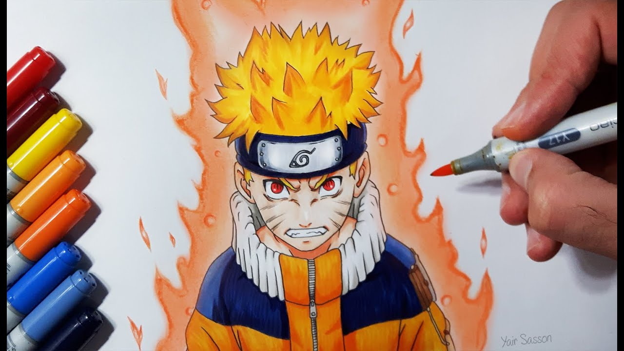 Drawing Naruto Uzumaki Jinchuriki Phase One Youtube