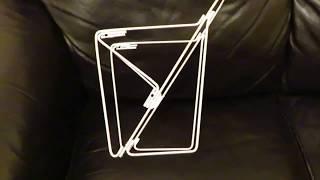 homemade front pannier rack
