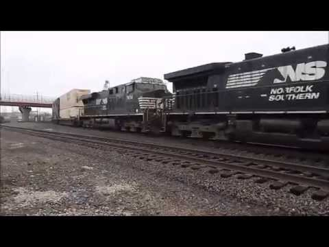 Railfaning the Norfolk Southern Cleveland And Ft  Wayne Lines in Alliance, Ohio