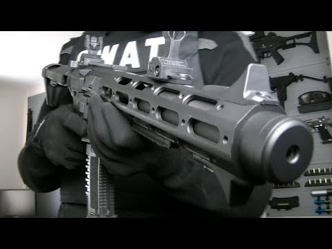 ARES AMOEBA AM-013 HONEY BADGER Airsoft Unboxing Review Shooting Test by Airsoft Mike COD