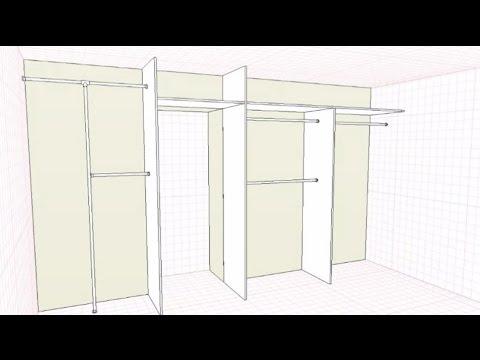 Шкаф с проходом в другую комнату