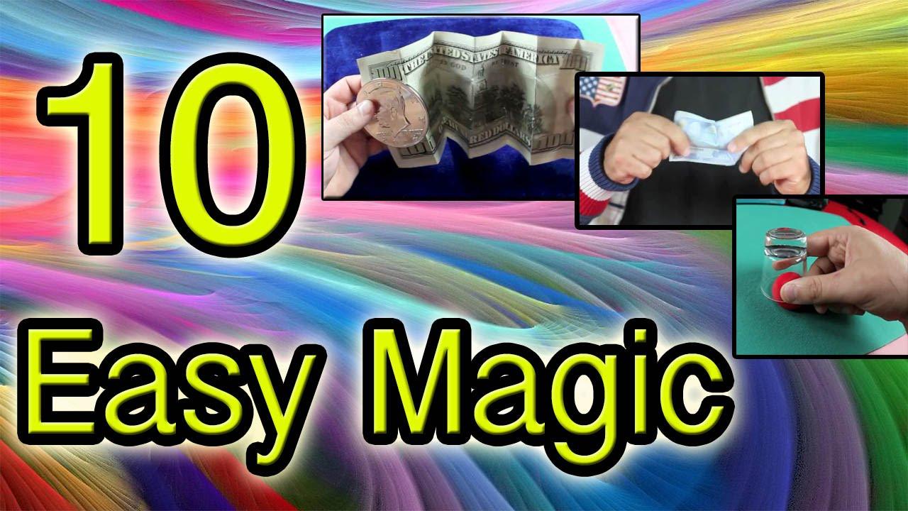 10 Easy Magic tricks Revealed Tutorial - YouTube