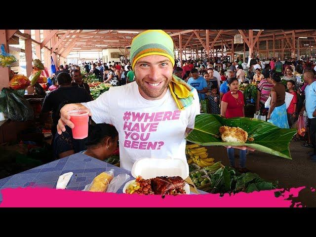 Surinamese FOOD TOUR of the Kwatta Sunday Market - Indian & Indonesian Food | Paramaribo, Suriname