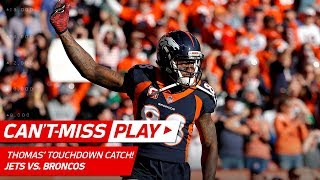 Demaryius Thomas' Big TD Catch After Brandon Marshall's Strip Sack! | Can't-Miss Play | NFL Wk 14