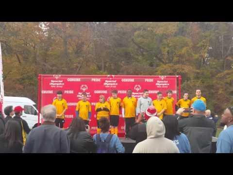 Special olympics soccer ceremony