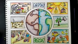 Save Earth poster making Save earth save environment poster drawing