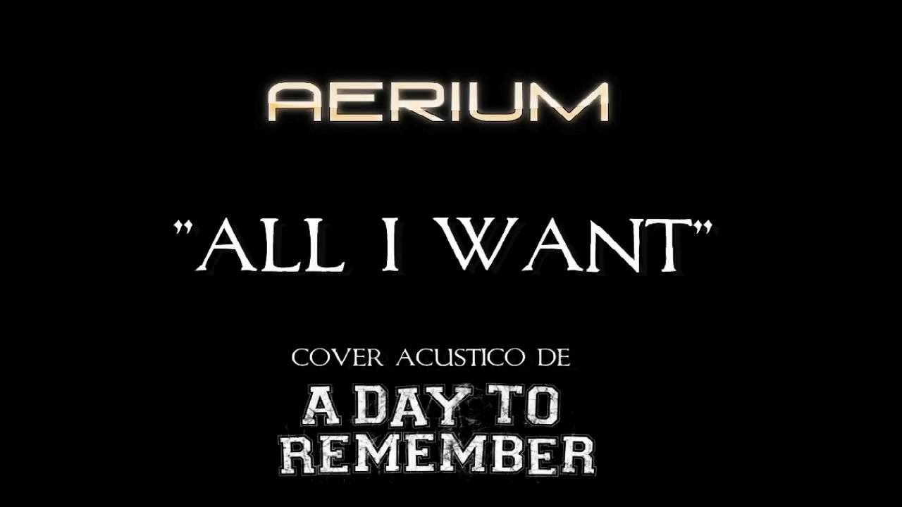 A Day To Remember - All I Want (Acoustic cover) - YouTube A Day To Remember All I Want Album Cover