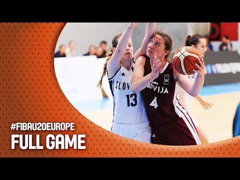 Slovak Republic v Latvia - Full Game - R16 - FIBA U20 Women's European Championship 2016