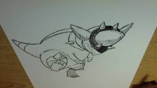 Drawing all the Pokemon: Number 409 Rampardos