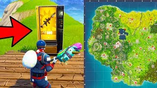 LEGENDARY VENDING MACHINE ONLY CHALLENGE + LOCATIONS in Fortnite Battle Royale!