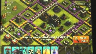 Clash of clans Bonbee's Daddy plays with max drags and balloons