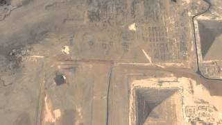 birds eye view of the giza pyramid and the great sphinx near cairo egypt tour
