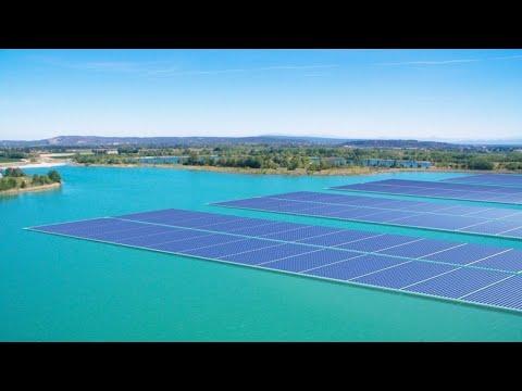 La première centrale solaire flottante en France en service au printemps 2019