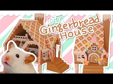 🍭 Cardboard Gingerbread House | HAMSTER DIY 🍬