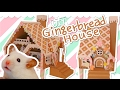🍭 Cardboard Gingerbread House 🍬 | Hamster DIY