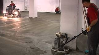 видео Бетонные промышленные полы: технология изготовления и ремонта