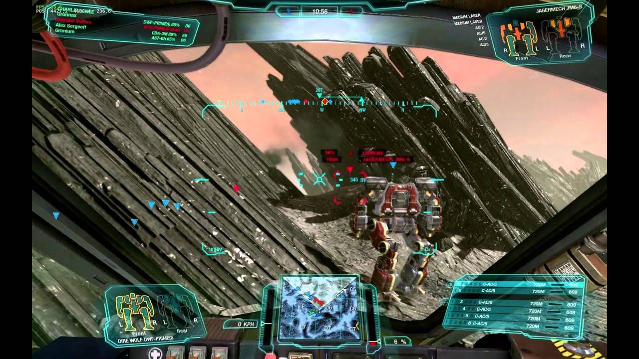 Mech Warrior Online HEX C-AC/5 Direwolf PRIME - YouTube