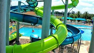 Green Splashtacular Slide at Strawberry Water Park