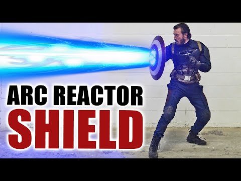 Captain America ARC REACTOR SHIELD in REAL LIFE!
