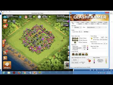 How to Use clash farmer bot for clash of clans on your laptop or desktop?