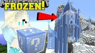 Funny MMOS Minecraft: FROZEN HUNGER GAMES - Lucky Block Mod - Modded Mini-Game