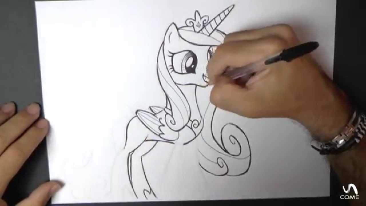 Come disegnare la principessa cadence della serie my - Pony da colorare in immagini ...