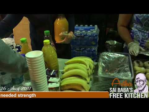 Astha Sai Baba's Free Kitchen - 26 August 2017 Serving homeless in sydney