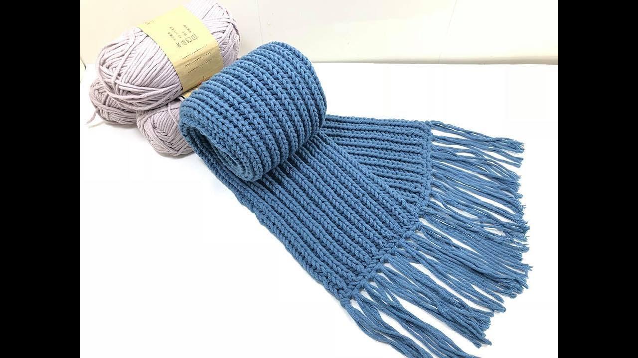 knitting -HƯỚNG DẪN ĐAN KHĂN QUÀNG CỔ