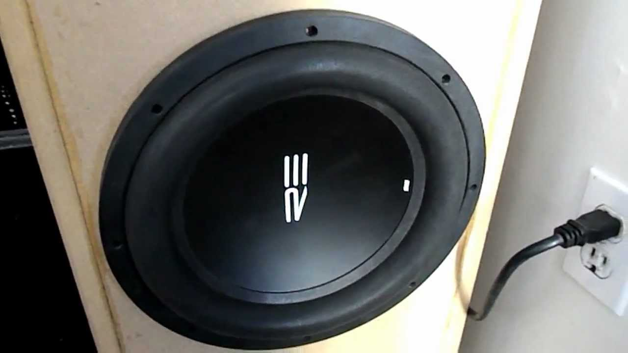 re audio ht subwoofer demo, car sub in home theater - youtube