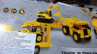 CAT Truck and Trailer Dump Pulling Excavator Vehicle