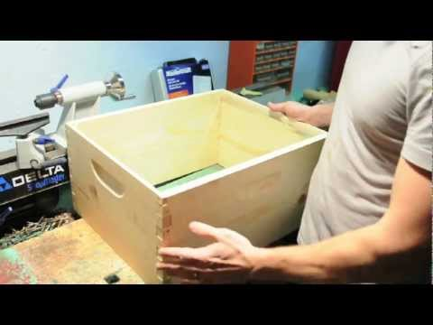 Assembling a standard bee hive box - YouTube