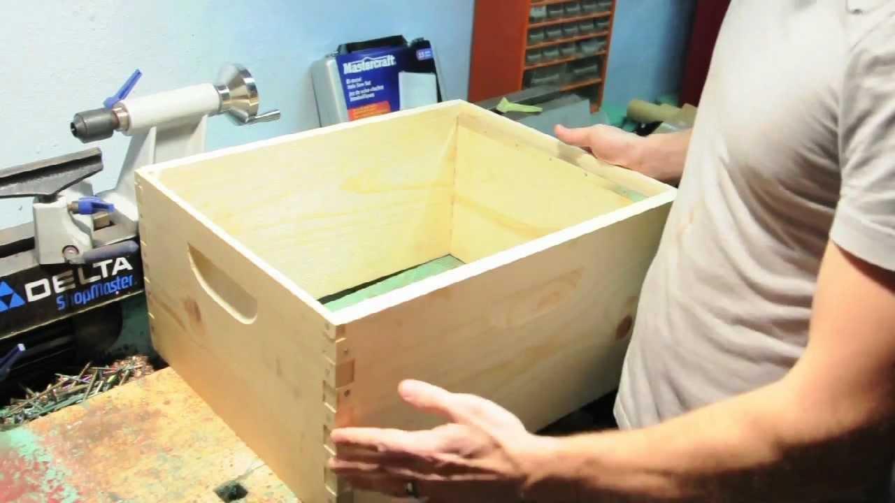 Assembling a standard bee hive box