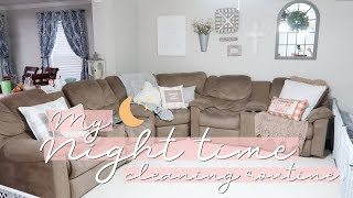 NIGHT TIME CLEANING ROUTINE 2018 | SUPER RELAXING & TALK THROUGH | SAHM CLEANING MOTIVATION