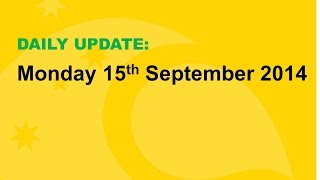 Daily Update: 15 September 2014