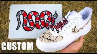GUCCI AIR FORCE 1 CUSTOM - Jordan Vincent
