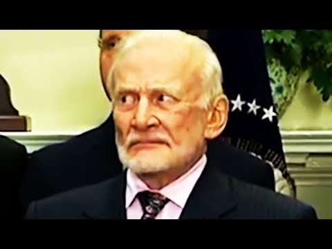 Buzz Aldrin IS NOT HAVING Trump's Nonsense Speech About Space