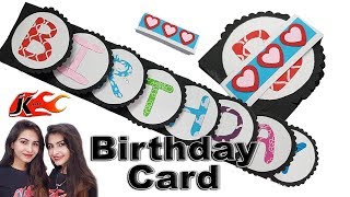 DIY Handmade Birthday Greeting card idea - JK Arts 1476