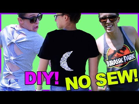 Attempting No Sew Summer Clothes Hack