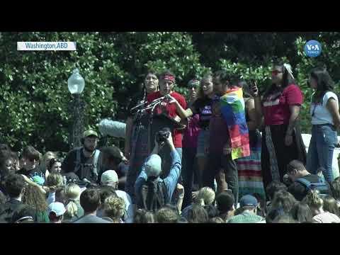 Washington'da Gençlerin İklim Gösterisi