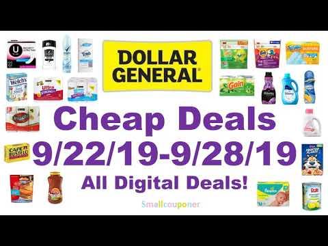 Dollar General Cheap Deals 9/22/19-9/28/19! All Digital Deals!