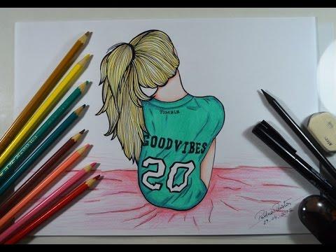 Como Desenhar Garota Sentada Estilo Tumblr