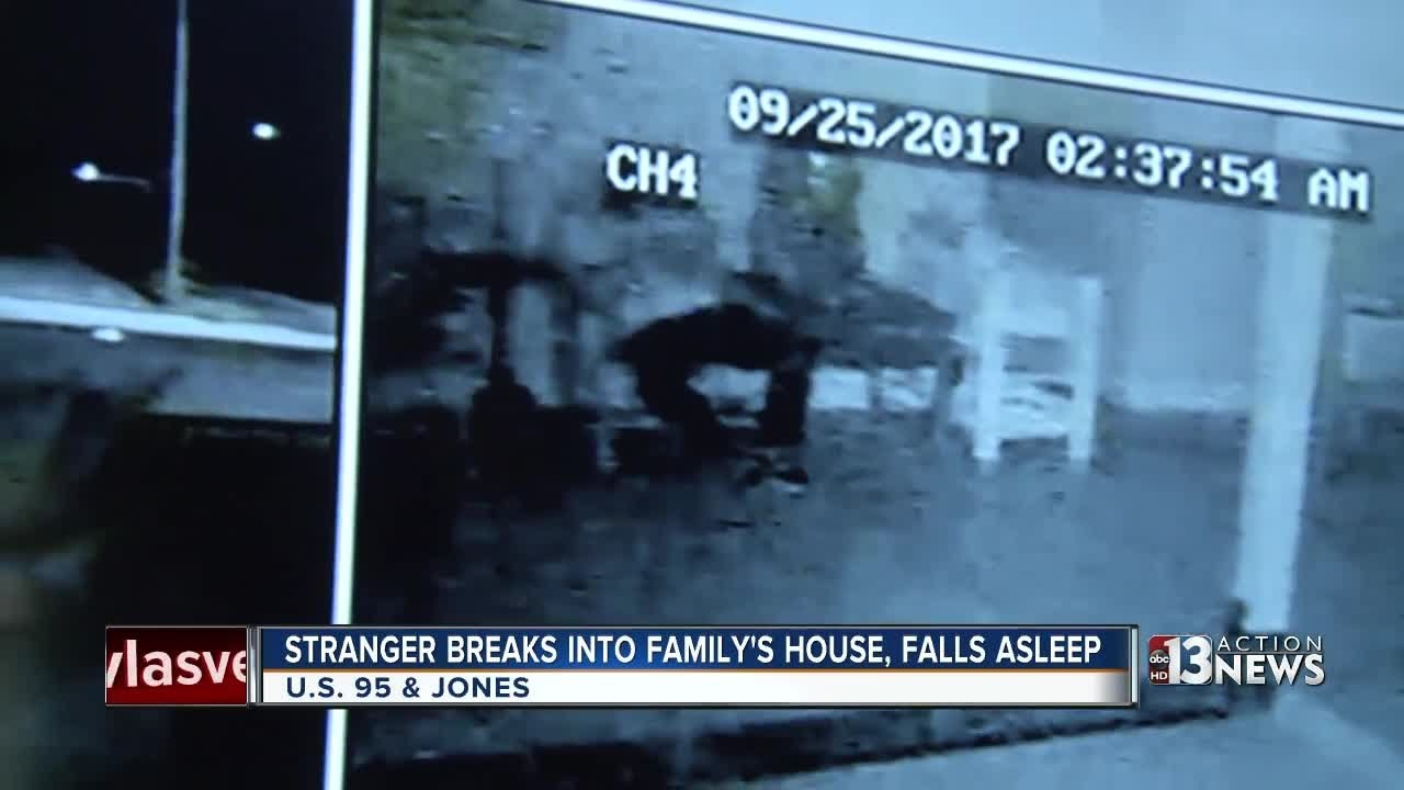 Las Vegas family finds stranger asleep in home
