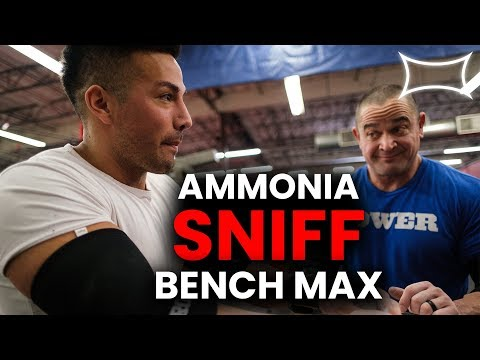 Christian Guzman Sniffs Ammonia and Maxes Out | Bench Press | Super Training Gym