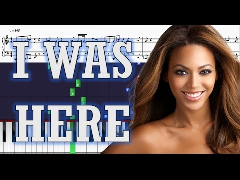 Beyonce - I Was Here - EASY Piano Tutorial w/ Sheets