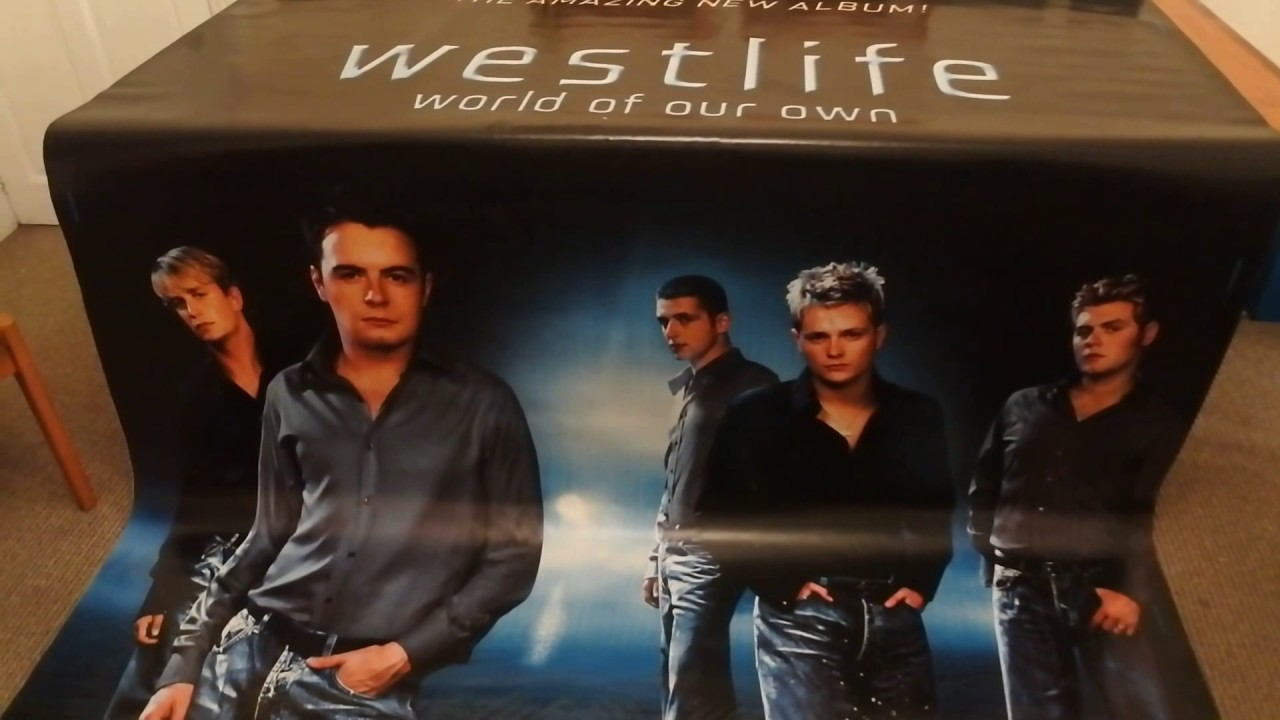 Make Your Own Car >> Westlife World Of Our Own Concert Banner Poster Car Boot Sale Find - YouTube