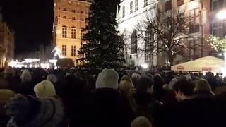 Najbardziej wzruszający moment wiecu po śmierci prezydenta Adamowicza w Gdańsku