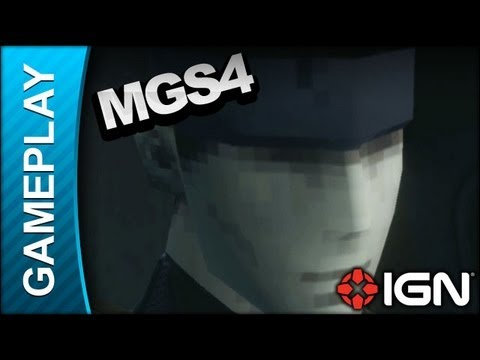 Metal Gear Solid 4 - Shadow Moses Flashback - Gameplay