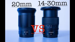 Nikon Z 20mm F1.8S VS Nikon Z 14-30mm F4S. Picture quality, Diffraction and Focus Breathing.