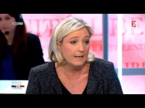 Marine  Le Pen et Najat Vallaud Belkacem